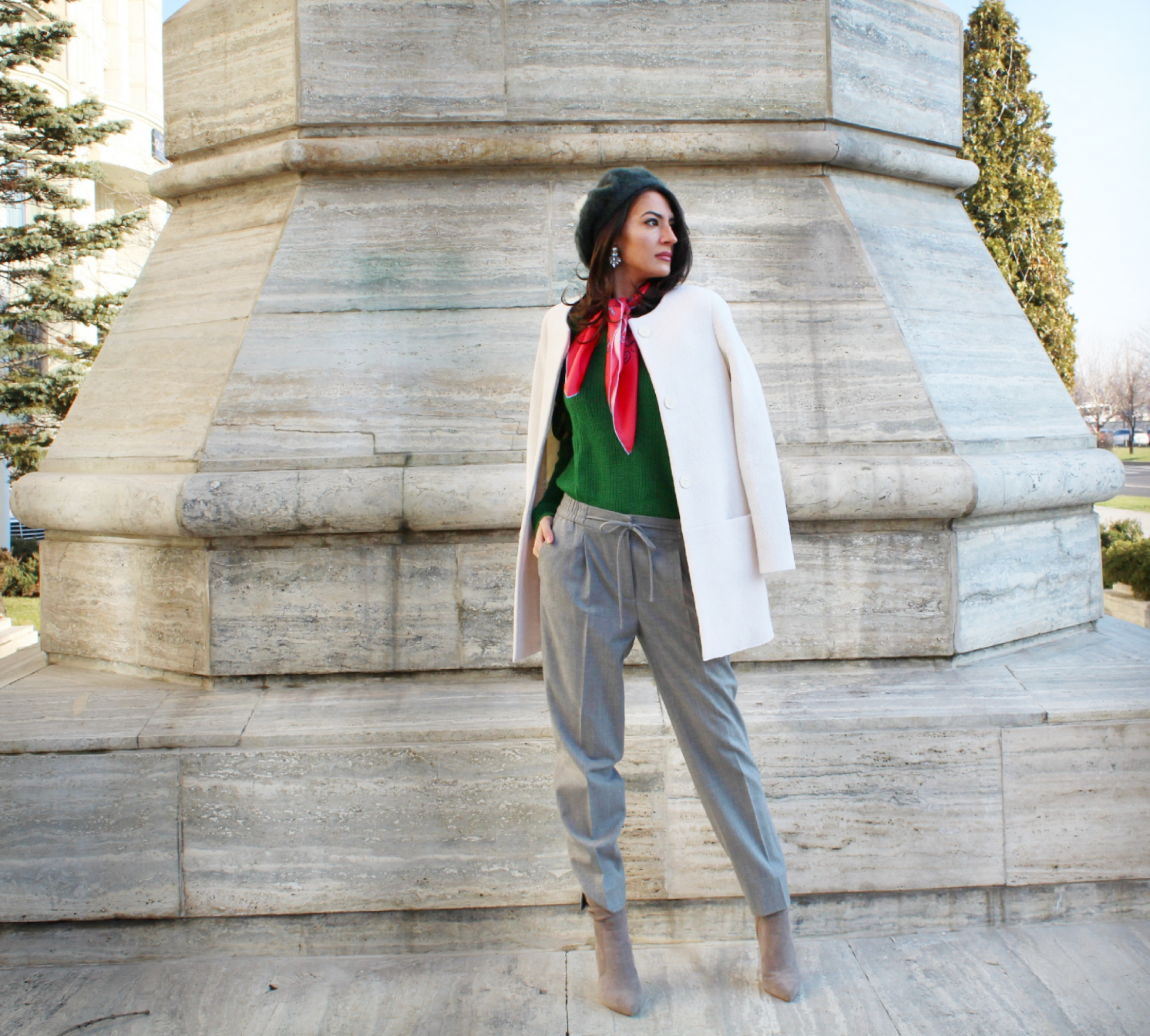 mihaela gurau green sweater rosegal ootd outfit post fashion blogger